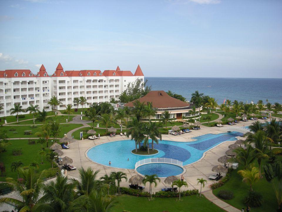 View from the Bahia Principe Resort in Jamaica