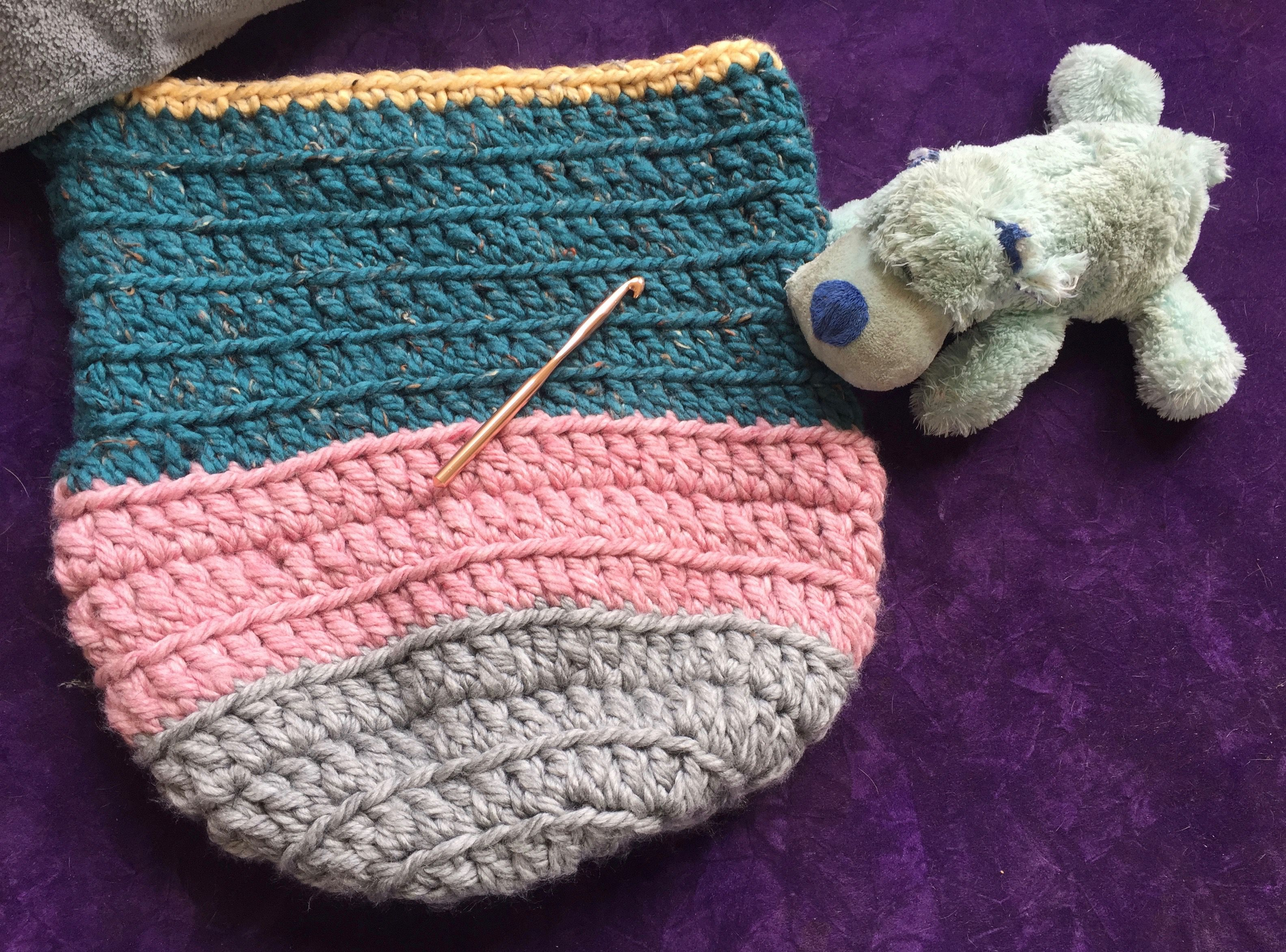 Quick And Easy Baby Cocoon Free Crochet Pattern