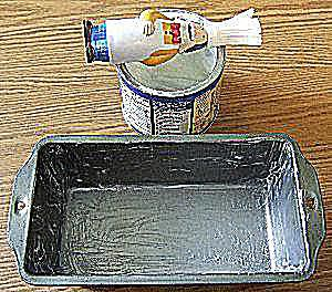 Step 2 - How to Grease and Flour Baking Pans - Greasing the Pan
