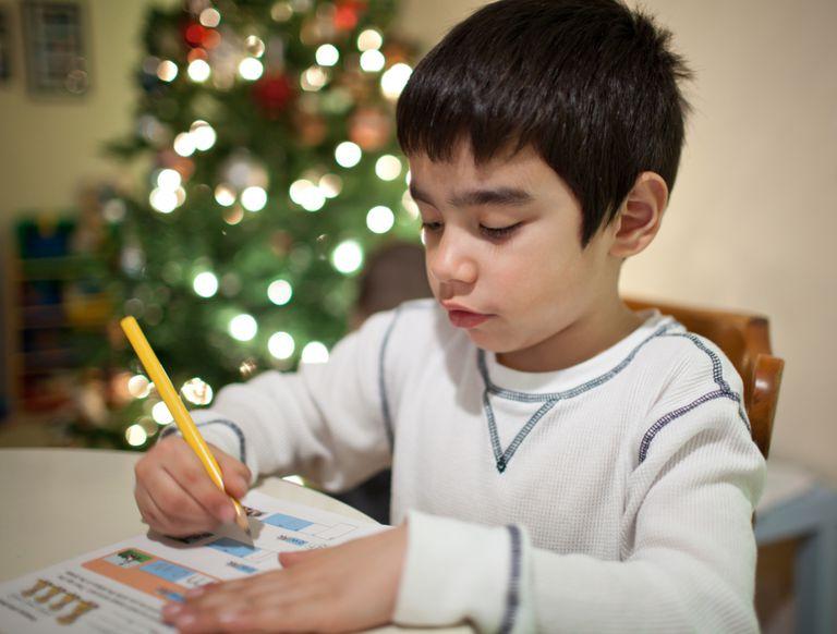Christmas break homework