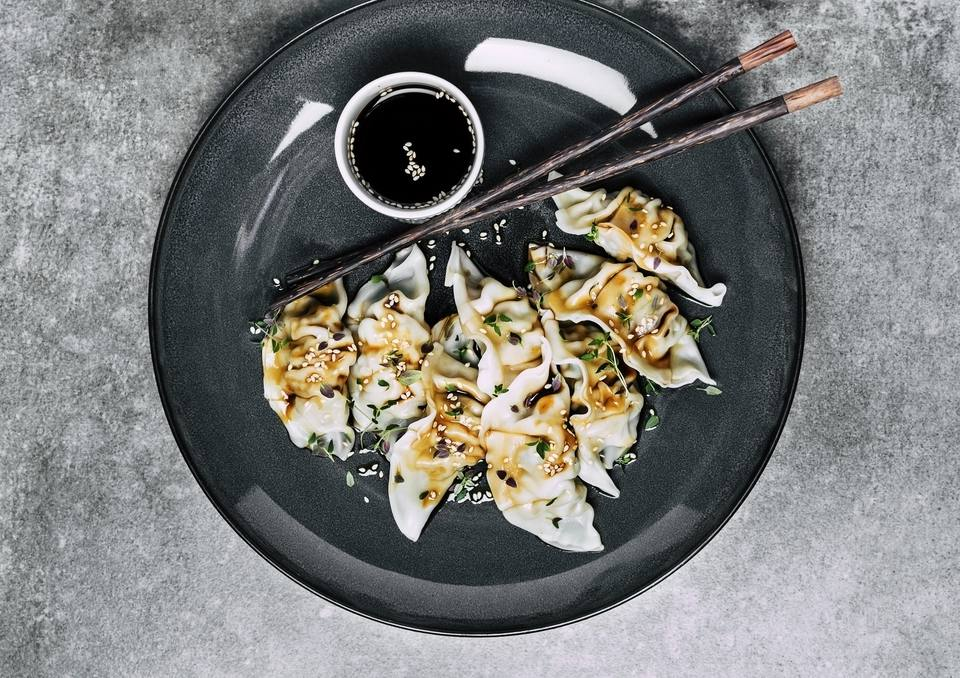 Oyster Sauce with Dumplings