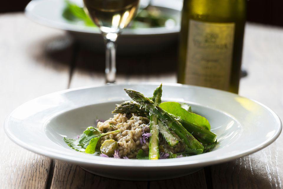 Asparagus dish at a restaurant
