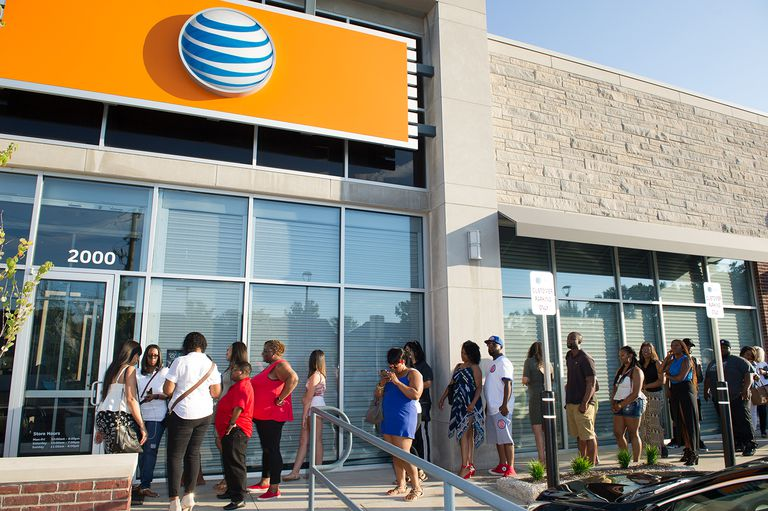 A general view of 'Power' in store appearance at the AT&T store.