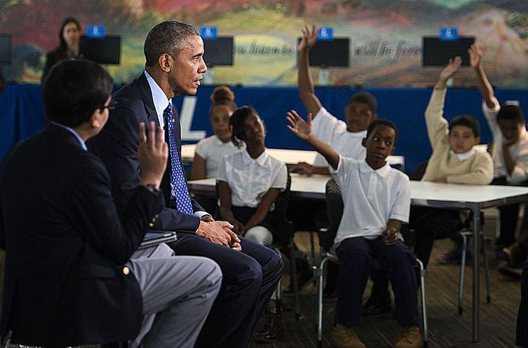 Obama Participates In 'Virtual Field Trip' With Middle School Students