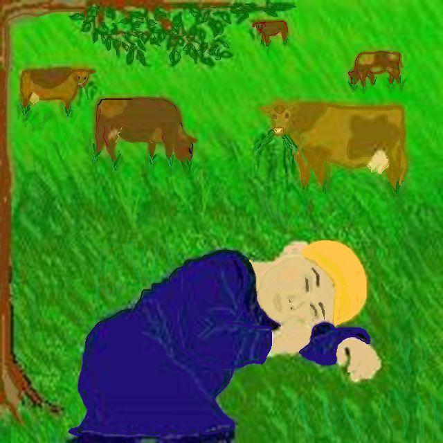Guru Nanak's Cattle in the Cornfield