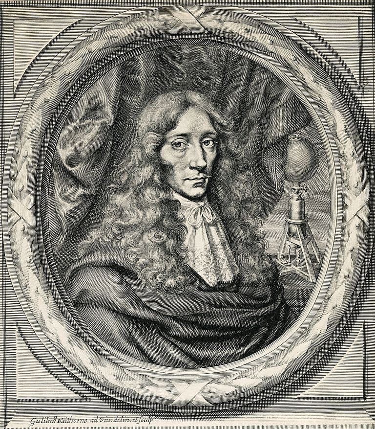 Engraving of Robert Boyle by William Faithorne