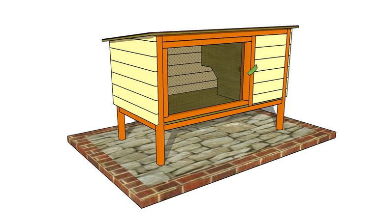 free rabbit hutch plan at my outdoor plans
