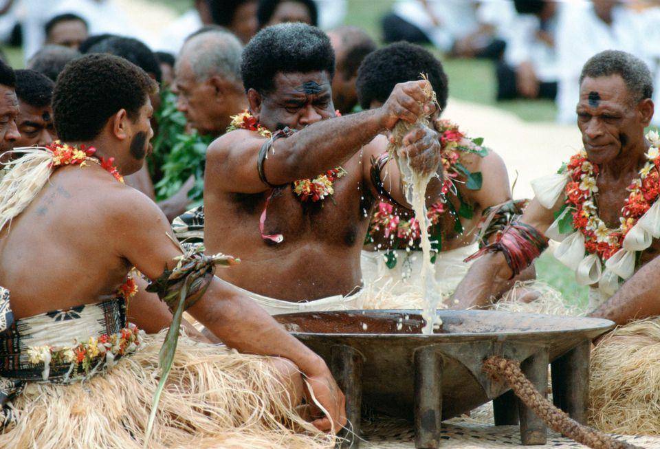 A Fijian kava ceremony