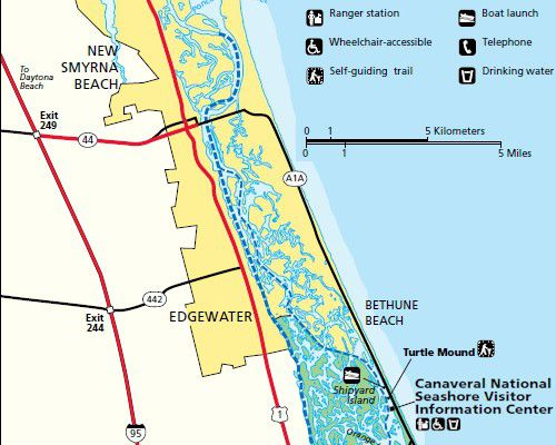 Directions And Maps For Floridas East Coast Beaches Including New Smyrna Beach National Park Service