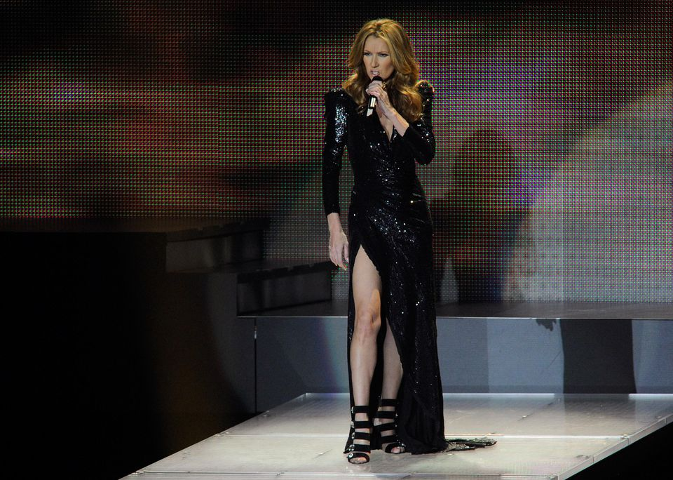 LAS VEGAS, NV - MARCH 15: Singer Celine Dion performs during the first night of her new show at The Colosseum at Caesars Palace March 15, 2011 in Las Vegas, Nevada.