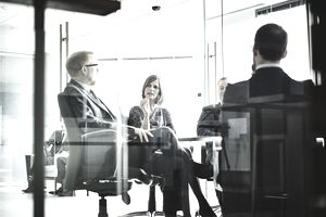 business co-workers having a meeting in a conference room