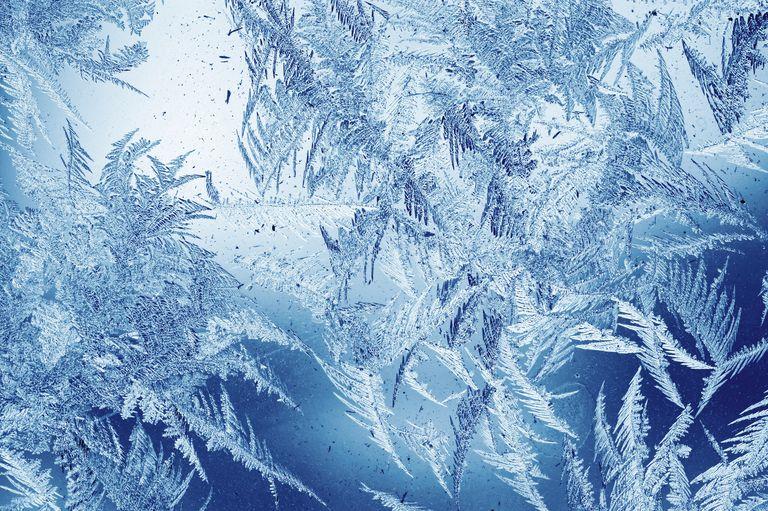 Frost pattern on window