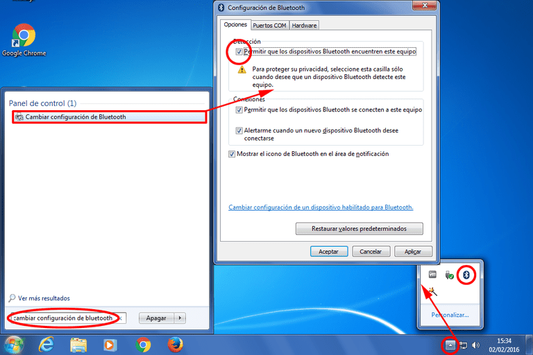 Bluetooth no funciona en Windows 7