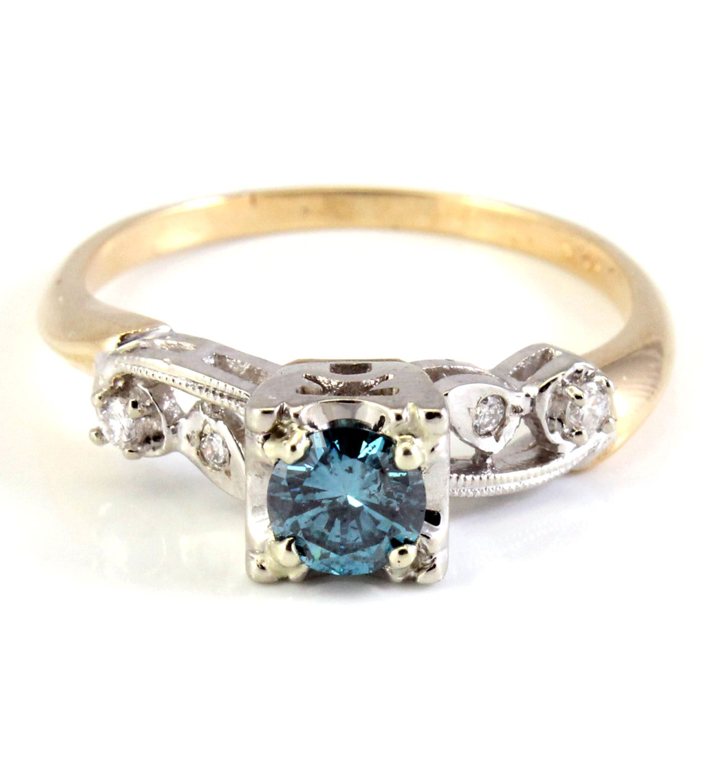 ring watch diamond engagement blue allen j strong color w james fluorescence youtube