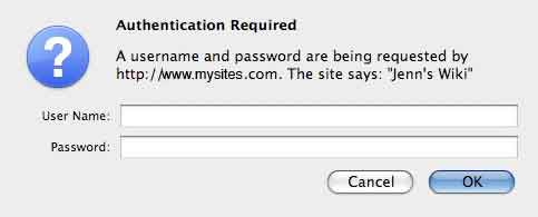 Password protect your Web pages