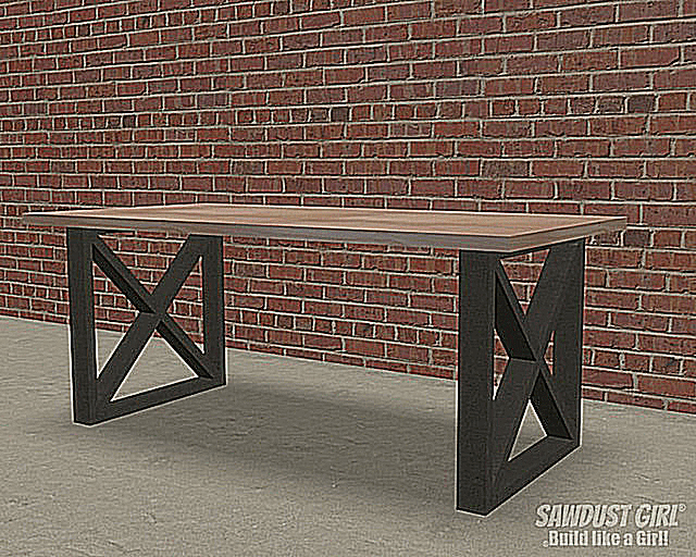 12 free dining room table plans for your home for X leg dining room table