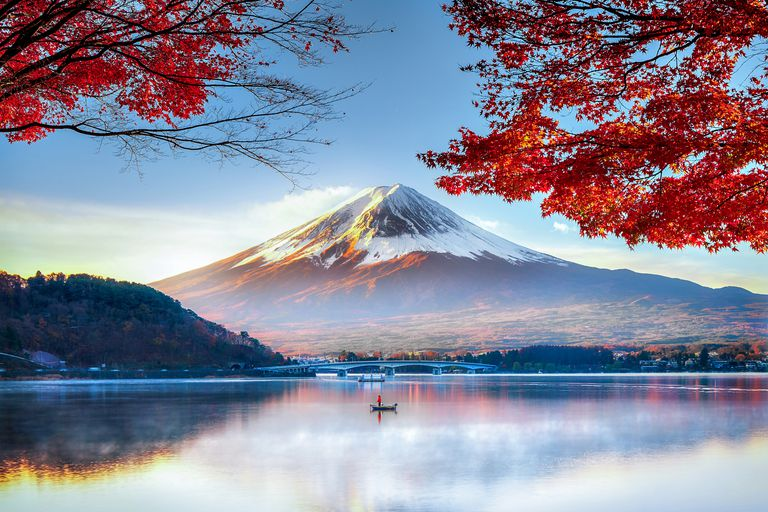 Fuji Mountain in Autumn