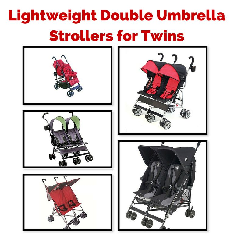 Lightweight Double Umbrella Strollers for Twins