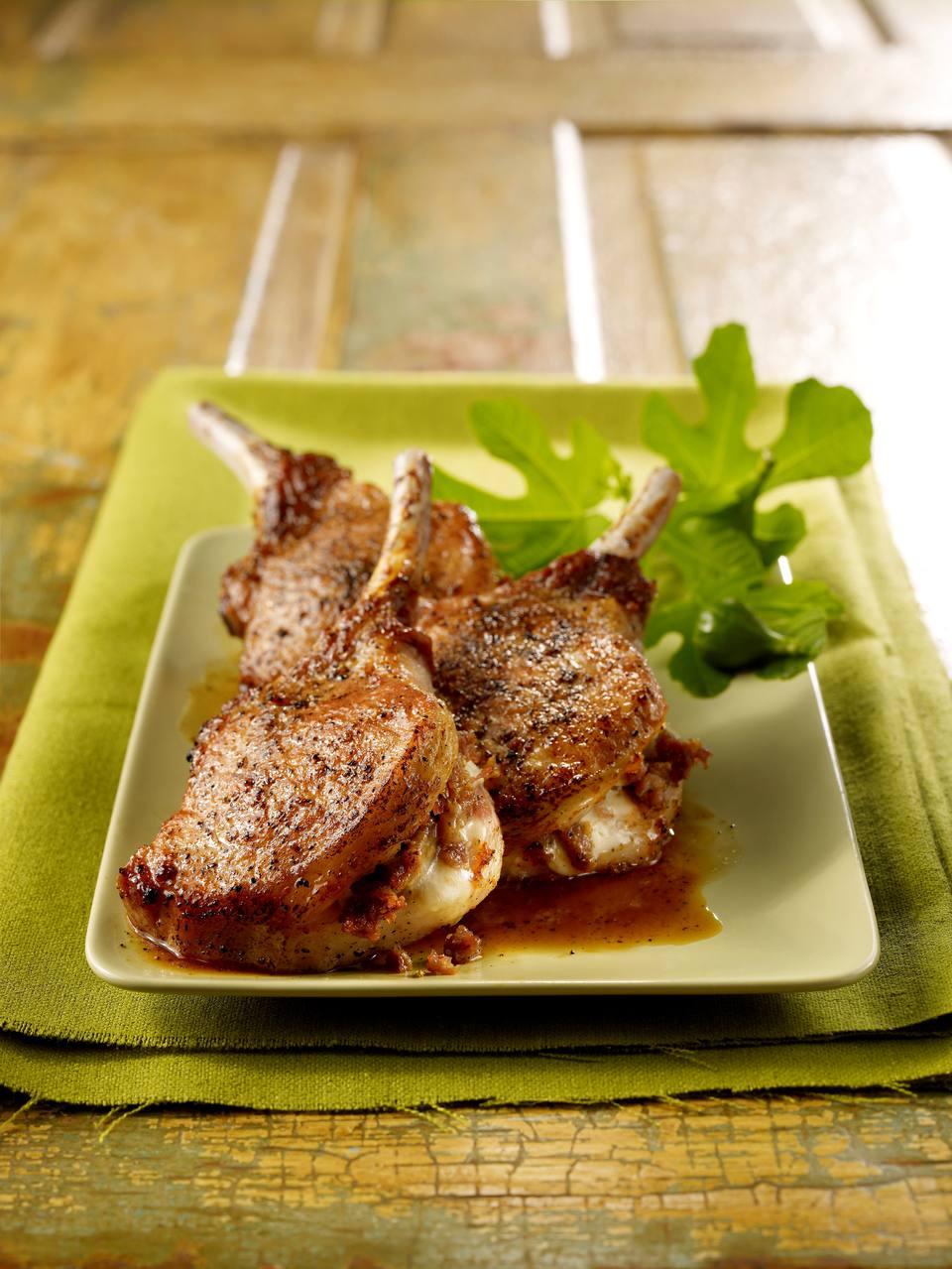 Garlic and Pancetta Stuffed Pork Chops