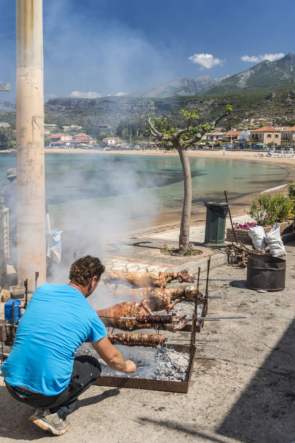 Easter Lamb Roast, Beach of Stoupa Greece