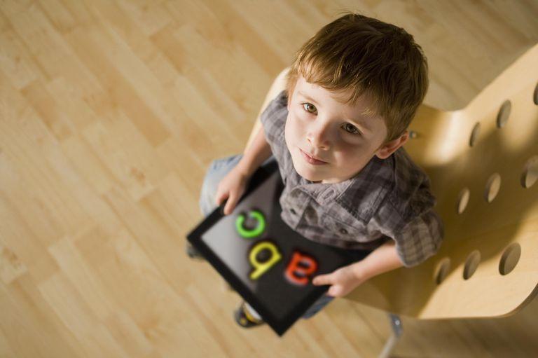 Boy w/Ipad tablet
