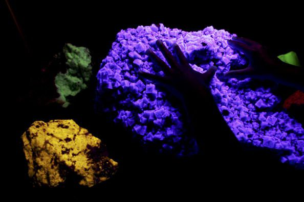 Quartz Glowing Under Black Light
