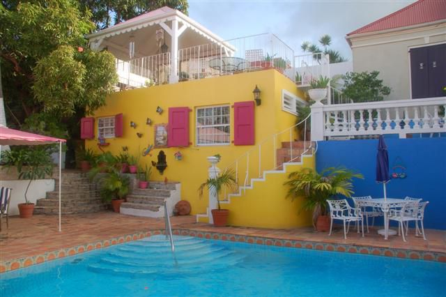 Photograph Of The Pink Fancy Hotel Pool St Croix US Virgin Islands