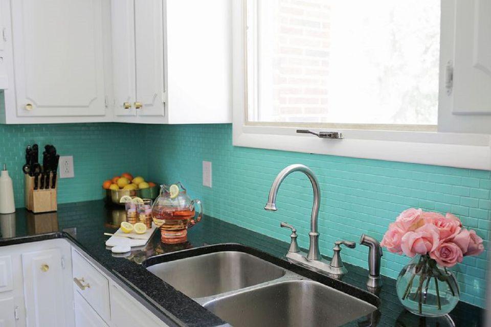 Painted DIY Tile Backsplash