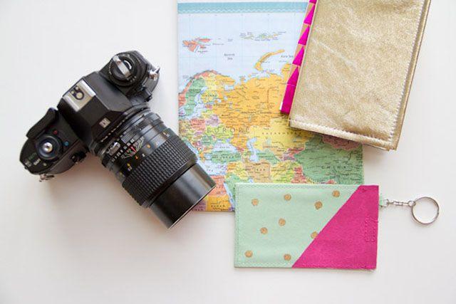 DIY Polka Dot Luggage Tag