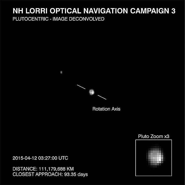 A view of Pluto from New Horizons