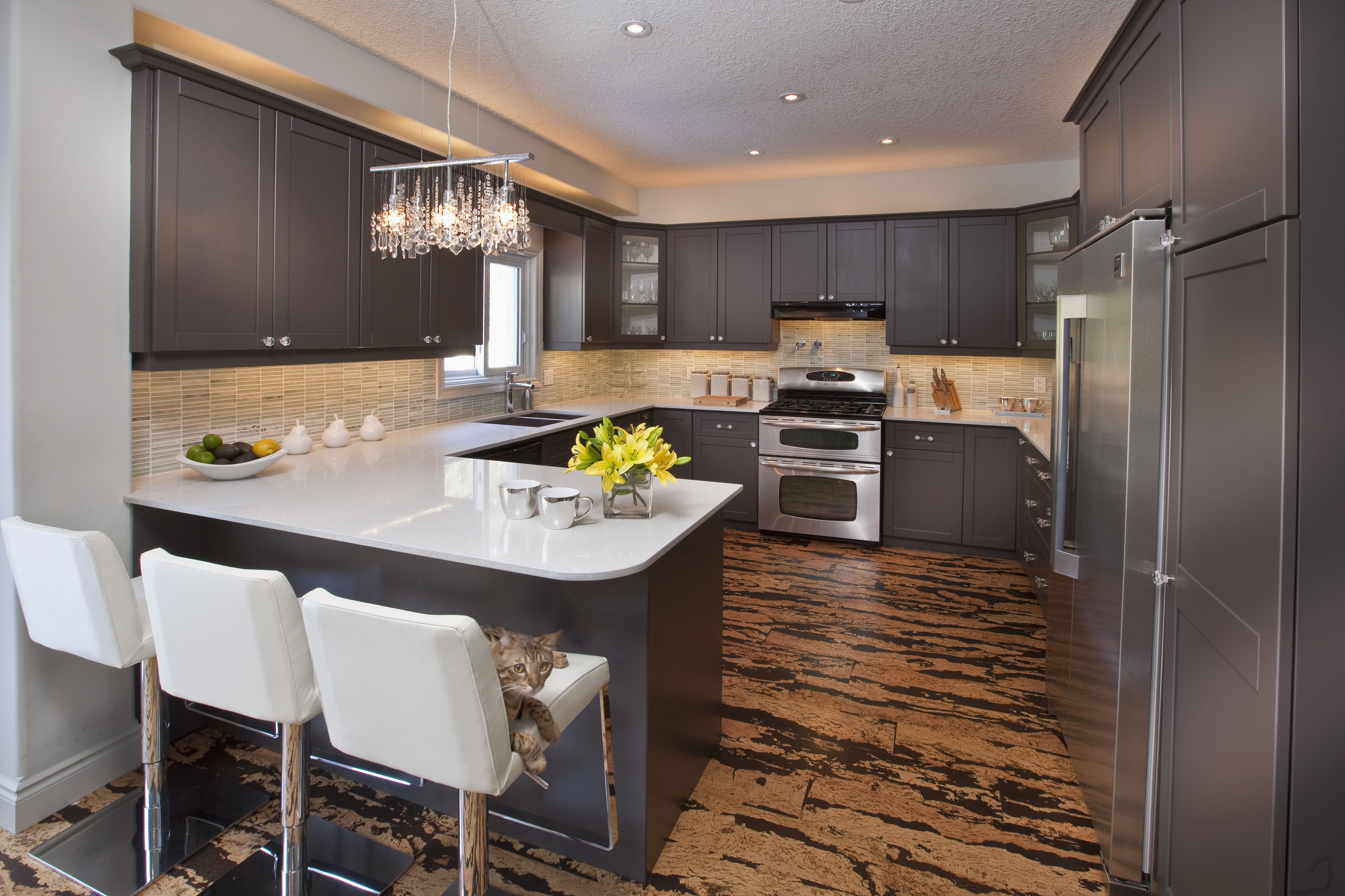 laminated linoleum island by kitchen slide flooring floors ranges countertop pendant for in two dark dining part steel all chandeliers lights table floor traditional innate marble black stainless gas wood refrigerator side