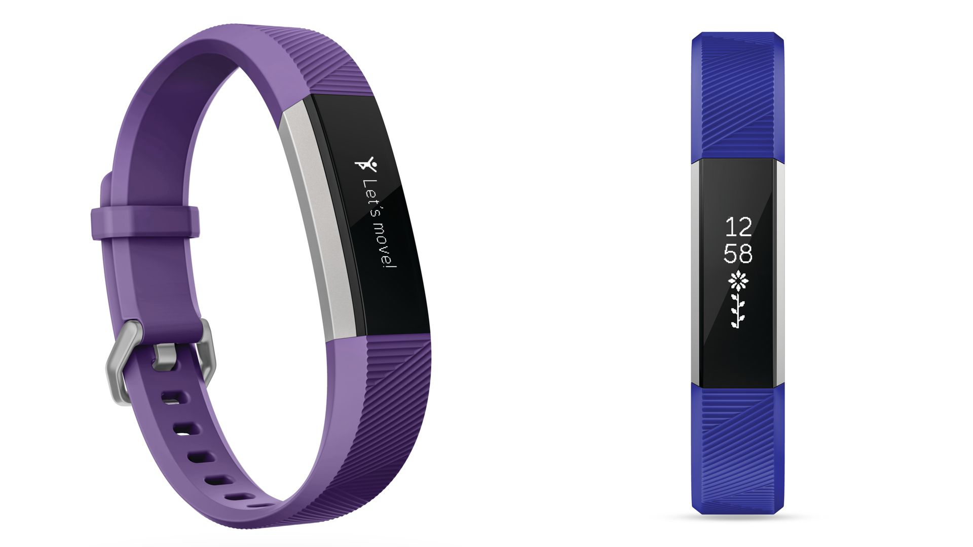 Fitbit Ace blue and purple wristbands