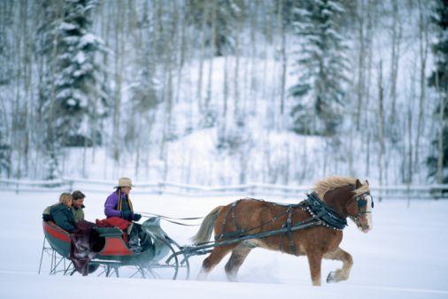 Take A Romantic Sleigh Ride In Utah