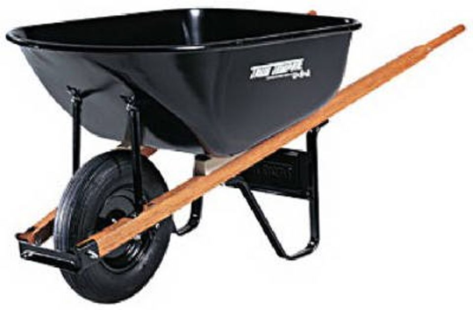 ames garden tools. Ames Contractor Wheelbarrow Garden Tools