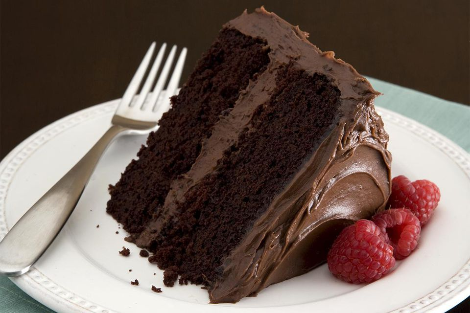 Chocolate Cake on Plate