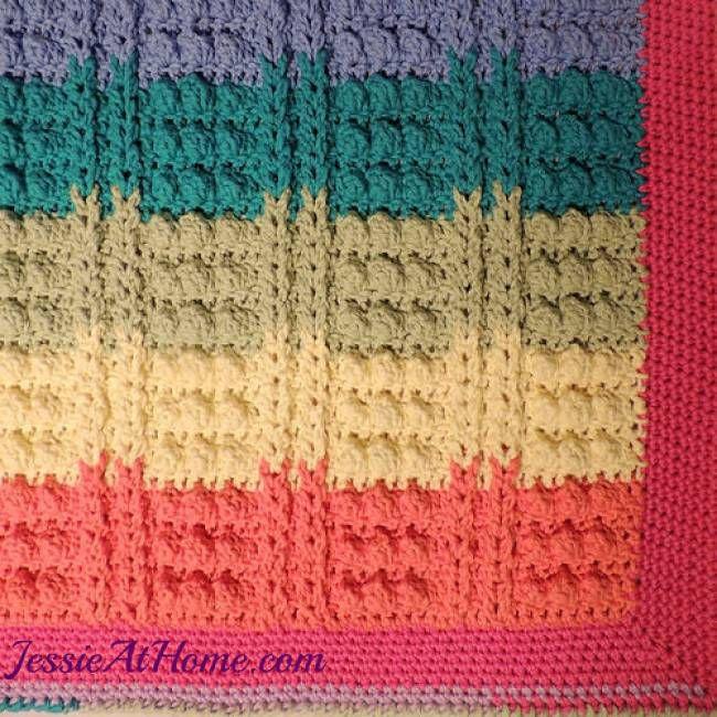 Rainbow Crochet Bath Mat Free Pattern