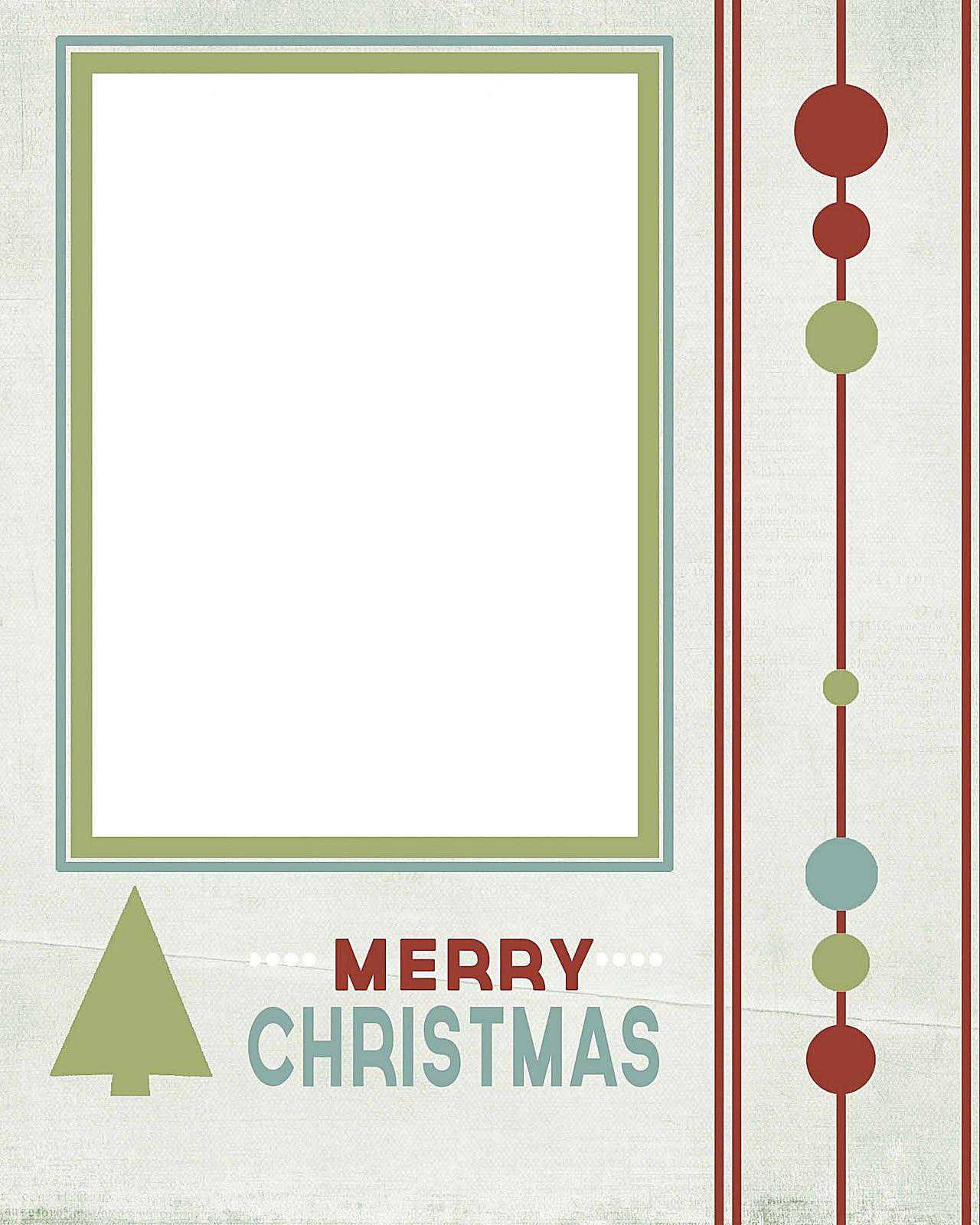 Free Christmas Card Templates For Photo Cards - Card template free: photo insert christmas cards