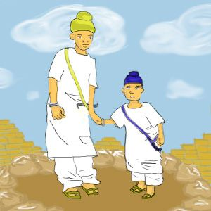 Artistic Impression of Guru Gobind Singh's Younger Sons Chote Sahibzade