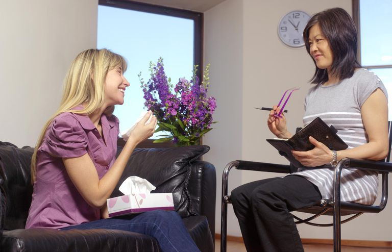 Young woman in therapy