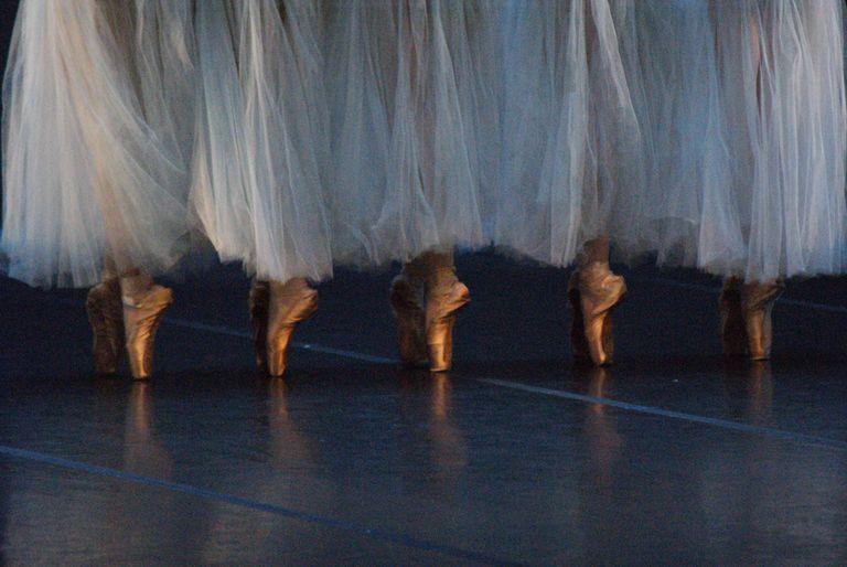 Ballet dancers on toe