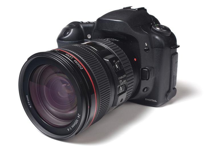A modern digital camera.