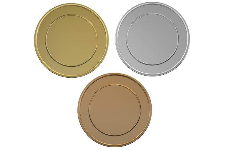 Bronze, Silver, and Gold discs.
