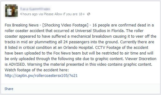 16 People Are Confirmed Dead in Roller Coaster Accident Universal Studios