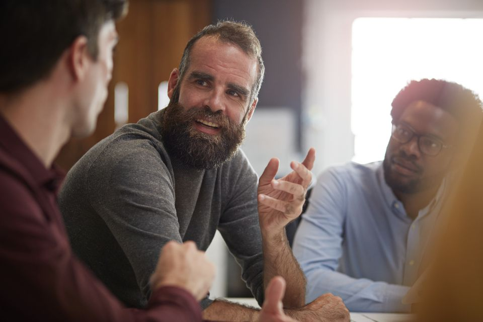 Men talking support group