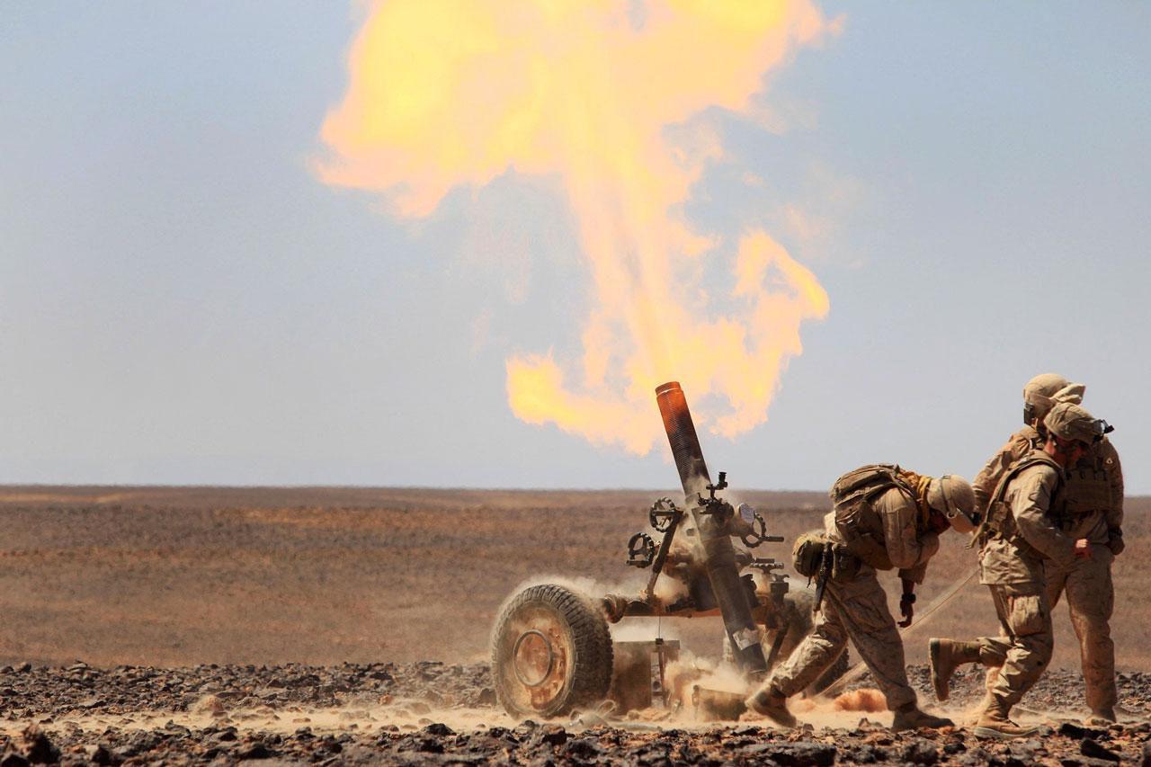 Mortar In Field : Us marine corps job field ordnance