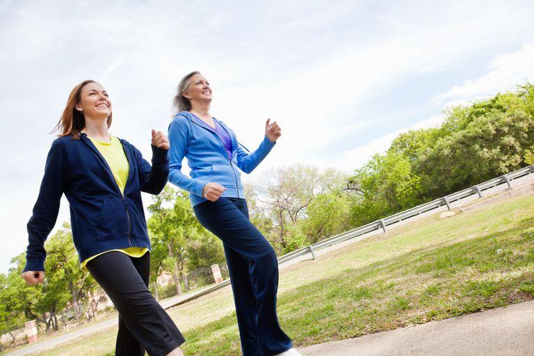 Brisk Walking Women