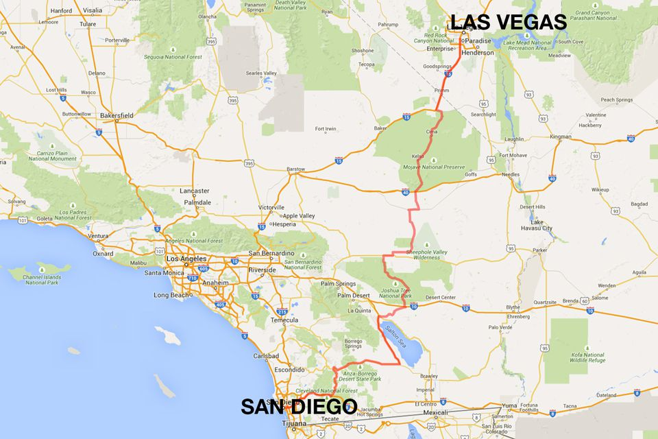 San Diego to Las Vegas the Fast Way