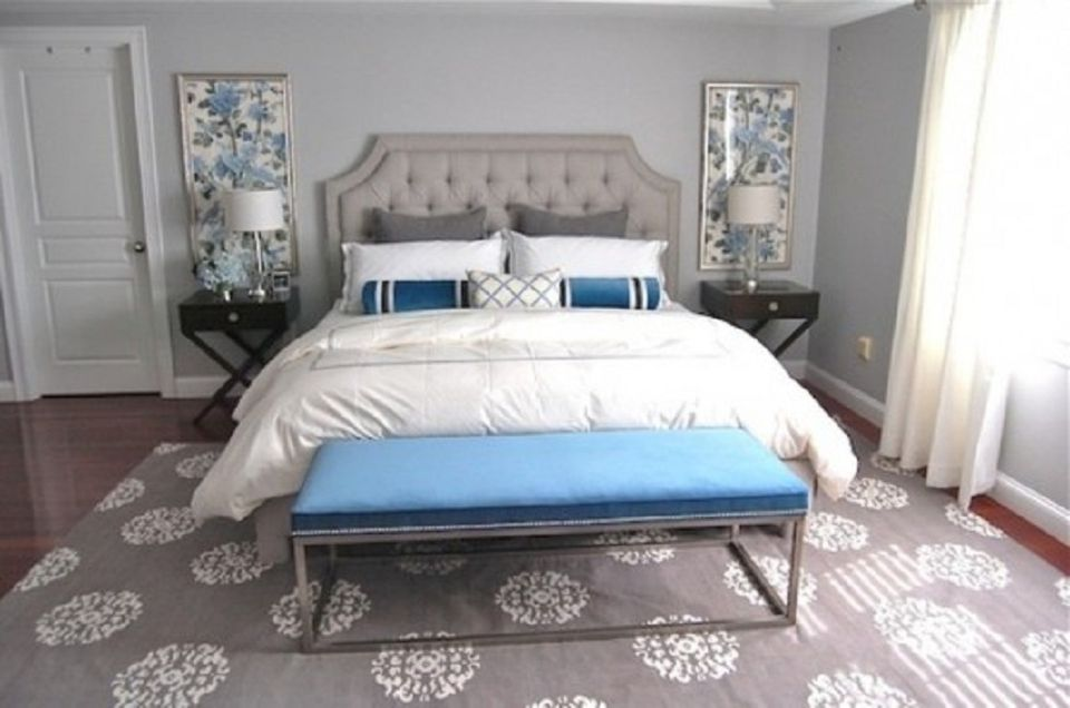 Yellow gray and teal for Cobalt blue bedroom ideas