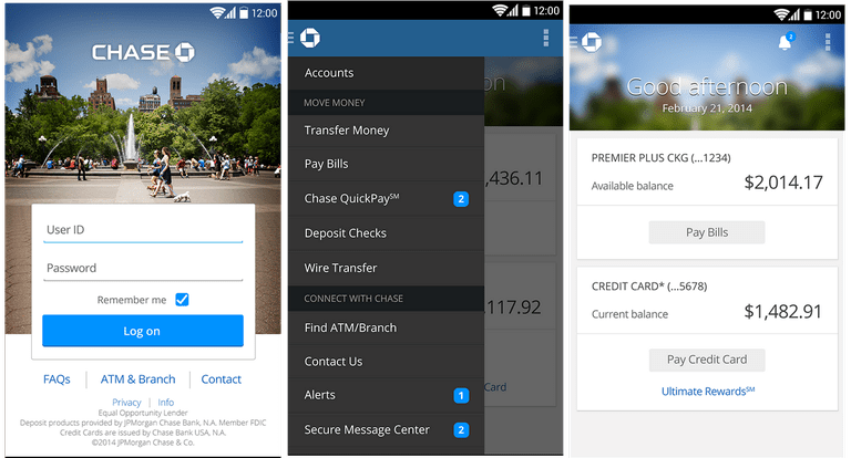 chase mobile app for android phones