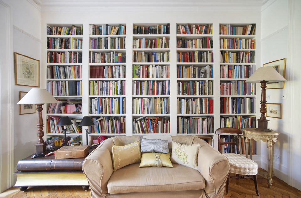 Use Tall Shelving Living Room Bookshelf